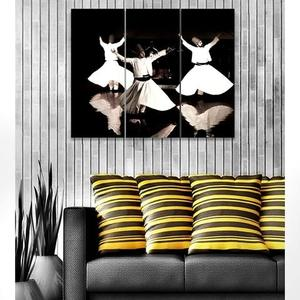 Bed n Shines - Digitally Printed Wall Frames 3 Pieces set Canvas - MulticolorHurry up! Sales Ends in