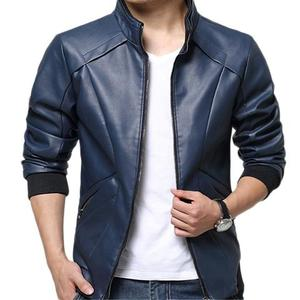 Slimfit Stylish Casual Jacket Faux Leather 41 OT - BlueHurry up! Sales Ends in