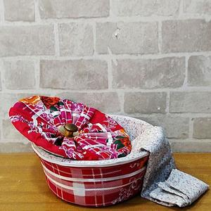 3 Piece Roti Hot Pot Basket - Multi Designs - MultiColorHurry up! Sales Ends in