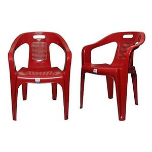 Plastic Res Relaxo Chair Set of 2 - RedHurry up! Sales Ends in