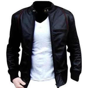 Bomber Aviator Faux (Artificial) Leather Jacket - BlackHurry up! Sales Ends in