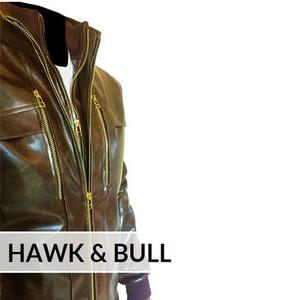 Bomber Faux Leather Jacket Custom Made 3 OTF - BrownHurry up! Sales Ends in