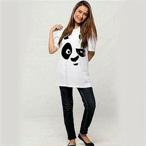 Panda Face Printed T-Shirt - GNL-WT64 - WhiteHurry up! Sales Ends in
