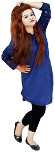 My Deals Bazaar - Pearl Boski Lilan Kurti for Women - BlueHurry up! Sales Ends in