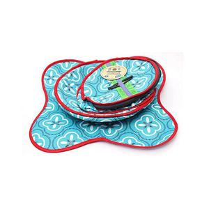 Pack Of 3 Printed Cotton Roti Basket With Cloth & Zip - MultiColorHurry up! Sales Ends in