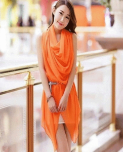 Royal Collection - Cotton Stylish Shrug For Women - OrangeHurry up! Sales Ends in