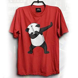Cotton Dub Panda Printed T-Shirt - GNL-WT200 - RedHurry up! Sales Ends in