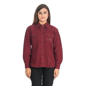 Cotton Shirt for Women - DTM - VTS 01 - RedHurry up! Sales Ends in
