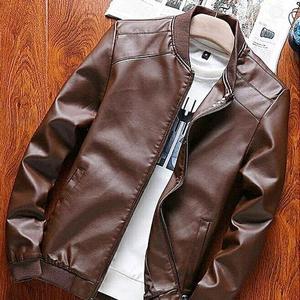 Leather Bomber Jacket For Men - GNL-LBJM-B - BrownHurry up! Sales Ends in