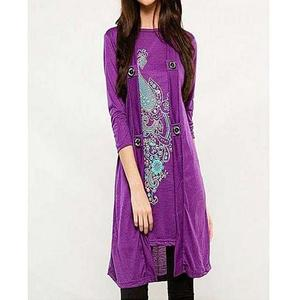 Bindas Collection - Viscose Tunic For Women - PurpleHurry up! Sales Ends in