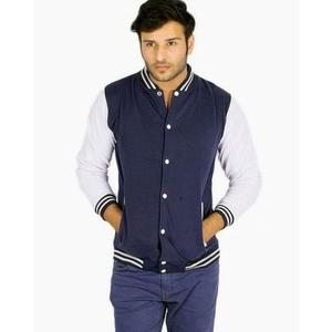 The Ajmery - Varsity Baseball Jacket - Navy BlueHurry up! Sales Ends in