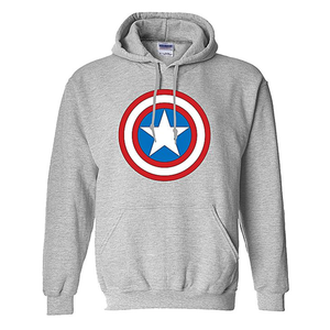 Onshoponline - Cotton Printed Captain America Hoodie For Men - GreyHurry up! Sales Ends in