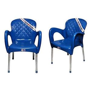 Plastic Res Relaxo Chair Set of 2 - BlueHurry up! Sales Ends in