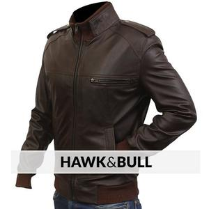 Alpha Male Slimfit Jacket Faux Leather - BrownHurry up! Sales Ends in