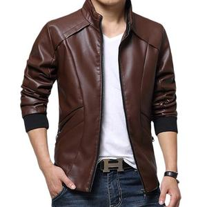Slimfit Stylish Casual Jacket Faux Leather 40 OTF - BrownHurry up! Sales Ends in