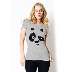 Panda Face Printed T-Shirt - Gnl-Wt337 - GreyHurry up! Sales Ends in