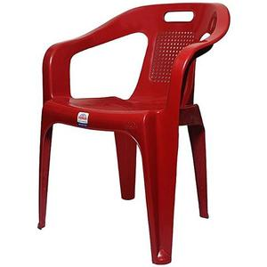 Stylish Plastic Outdoor Chair - RedHurry up! Sales Ends in