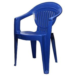 Stylish Plastic Outdoor Chair - BlueHurry up! Sales Ends in