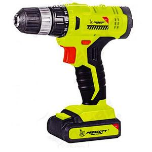 Prescott Heavy Duty Cordless 12v Drill With 2 Pcs Battery - YellowHurry up! Sales Ends in