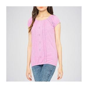 The Ajmery - Ribbed Deep Neck Tunic - LilacHurry up! Sales Ends in