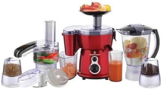 WestPoint - WF-2803 - 9-in-1 - Jumbo Food Factory With Extra Grinder - White & RedHurry up! Sales Ends in