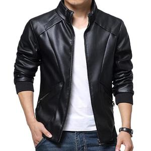 Slimfit Stylish Casual Jacket Faux Leather 39 OTF - BlackHurry up! Sales Ends in