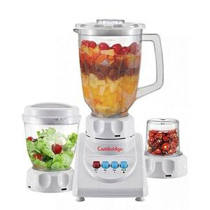 Cambridge 3In1 2 Speed Juicer Blender & Sauce Maker With Dry Mill 250W - BL206 - WhiteHurry up! Sales Ends in