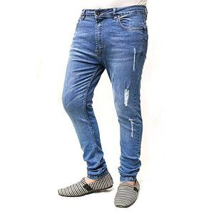 Stretchable Skinny Jeans for Men - BlueHurry up! Sales Ends in