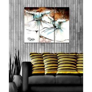 Bed n Shines - 3 Pieces Digital Printed Wall Canvas Frames - MulticolorHurry up! Sales Ends in