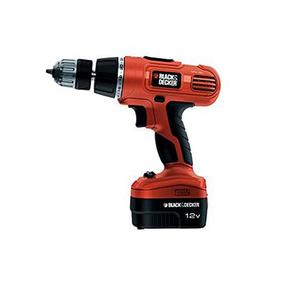 Black & Decker - Cordless Hammer Drill - 12V with 2 Batteries - Black & OrangeHurry up! Sales Ends in