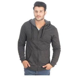 My Deals Bazaar - Fleece Zipper Hoodie for Men - Charcoal GreyHurry up! Sales Ends in