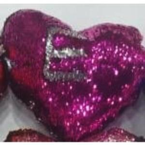 Heart Shape - Star Cushion With Filling - PurpleHurry up! Sales Ends in