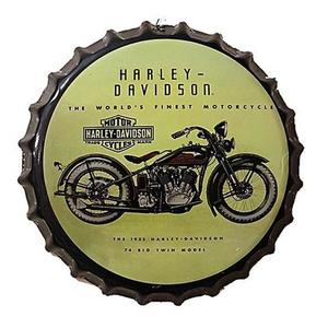 Iron Wall Hanging Bottle Cap - Harley Davidson - CreamHurry up! Sales Ends in