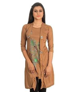 Royal Collection - Polyester & Viscose Shrug for Women - RCPA-TunicShrug-Sk - SkinHurry up! Sales Ends in
