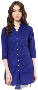 My Deals Bazaar - Pearl Boski Linen Top for Women - Navy BlueHurry up! Sales Ends in