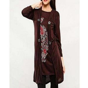 Bindas Collection - Viscose Tunic For Women - BrownHurry up! Sales Ends in