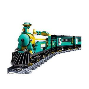 Plastic Battery Powered Electric Train Building Block Toy - 851pcs - BlueHurry up! Sales Ends in
