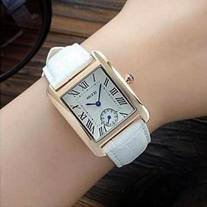 Bindas Collection - Down Second Leather Straps Watch for Women - WhiteHurry up! Sales Ends in