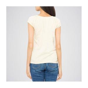 The Ajmery - Ribbed Deep Neck Tunic - Off WhiteHurry up! Sales Ends in