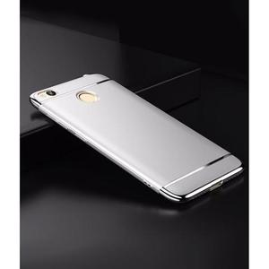 The SpeedGrade - 3Piece Mi Redmi 4X Electroplated Anti Shock Ultra Thin Bumper Case - Matte SilverHurry up! Sales Ends in
