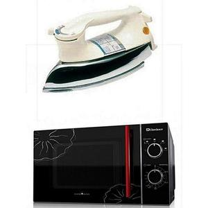 Dawlance - Pack of 2 - Microwave Oven + Heavy Duty Iron - Black & WhiteHurry up! Sales Ends in