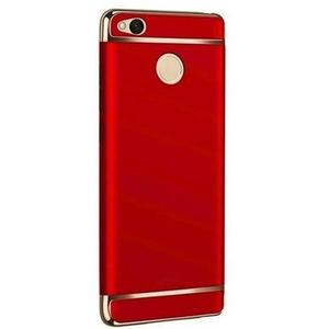 The SpeedGrade - 3Piece Xiaomi Redmi 4X Electroplated Anti Shock Ultra Thin Bumper Case - Matte RedHurry up! Sales Ends in