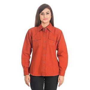 Rust Cotton Shirt for Women - DTM - VTS 02 - OrangeHurry up! Sales Ends in