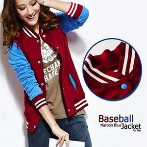 Baseball jacket For Women - Maroon & BlueHurry up! Sales Ends in