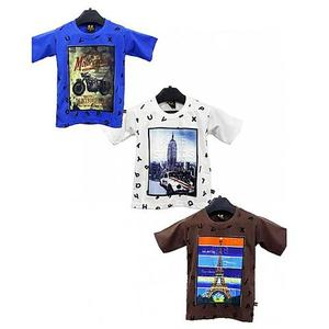 Bindas Collection - Pack Of 3 China Fabirc Printed T-Shirts For Kids - MulticolorHurry up! Sales Ends in