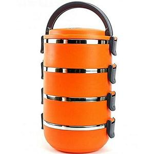 4 Tier Lunch Box - Lb 4 - OrangeHurry up! Sales Ends in