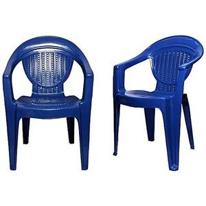 Stylish Plastic Outdoor Chair Set of 2 - BlueHurry up! Sales Ends in