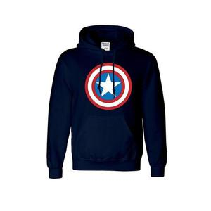 Onshoponline - Printed Cotton Hoodie For Men - Navy BlueHurry up! Sales Ends in