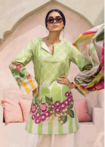 Cross Stitch Embroidered Lawn Unstitched 3 Piece Suit CS18-L2 13 - Spring / Summer Collection