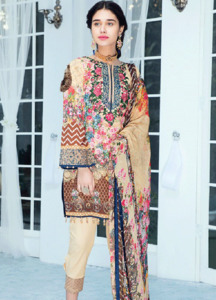 Gulaal Embroidered Lawn Unstitched 3 Piece Suit GL18L 03 - Spring / Summer Collection